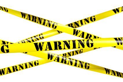 3d rendering of WARNING tape.