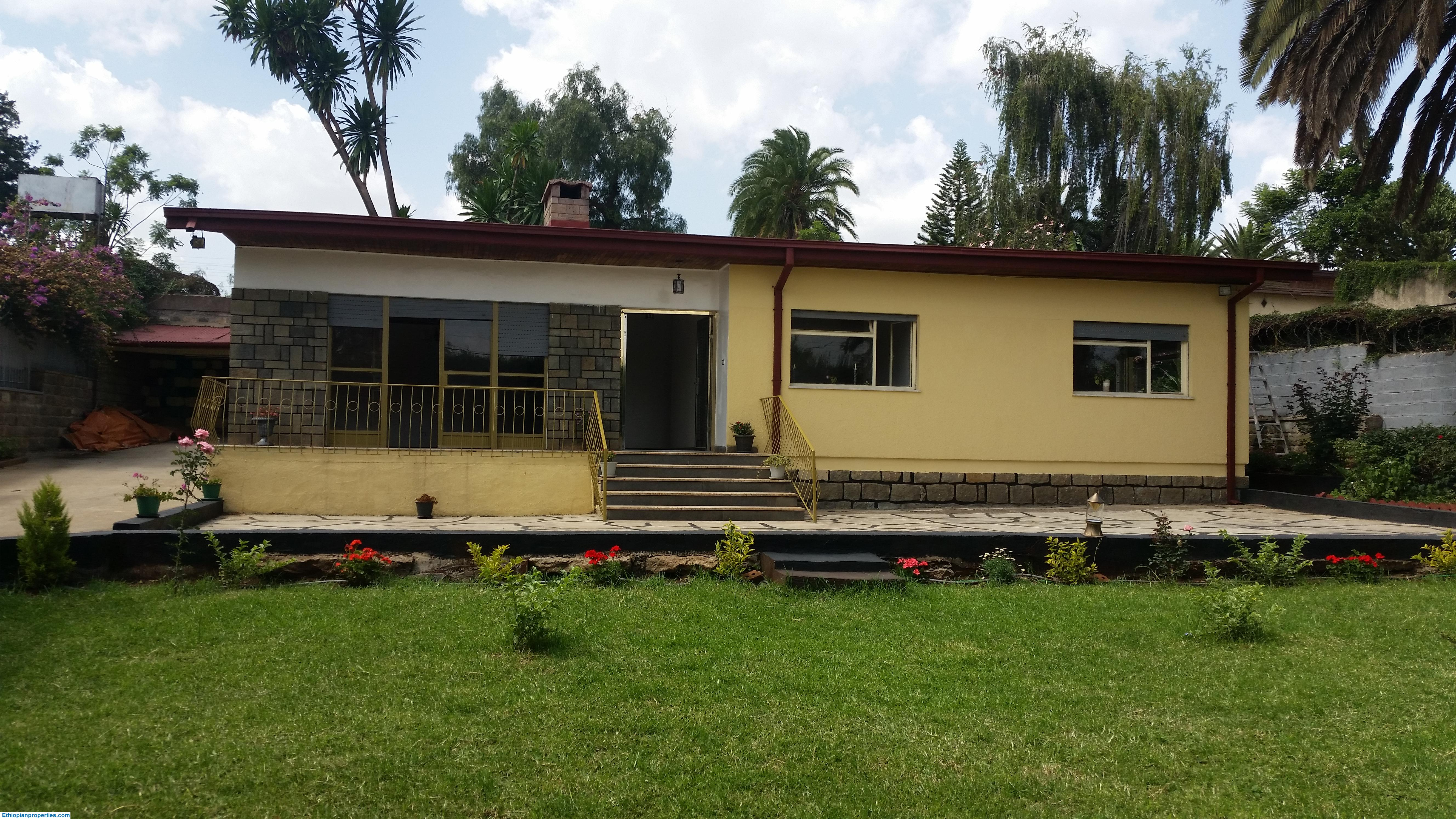 Renovated Bungalow House with great garden for Rent in Old Airport, Addis Ababa