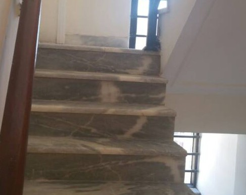 marble staircase to private terrace