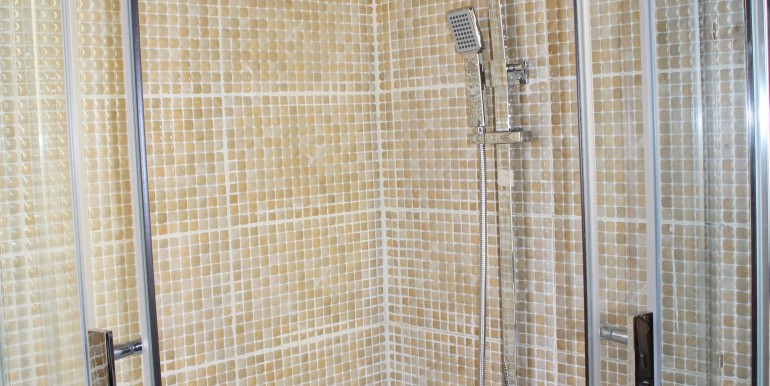 the shower, (bathroom 1)